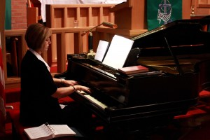Betsy Werner playing our 1899 Steinway concert grand piano